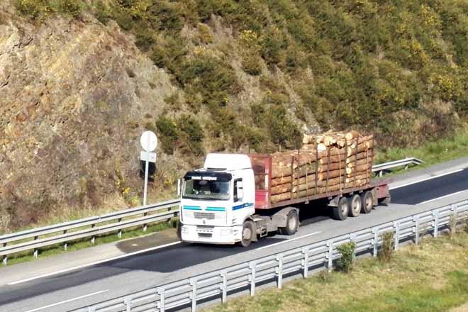 A industria forestal pide autorizar máis carga nos camións das cortas
