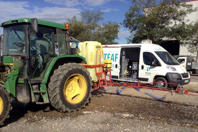 Uns 9.500 equipos sulfatadores, obrigados a inspección en Galicia