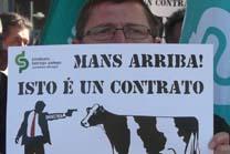 Campaña do Sindicato Labrego contra a inoperancia do contrato lácteo