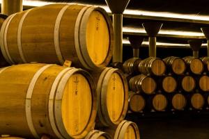 Crianza de viño en barrica.