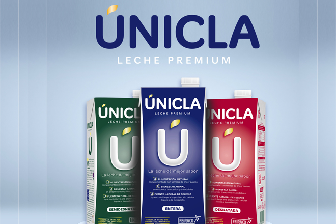 Feiracolanza ao mercado a súa nova gama de leiteÚnicla