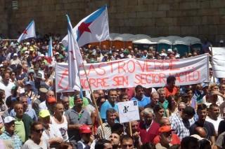 Os sindicatos piden unha solución política e aXuntarecorda que en 2009 o prezo era peor