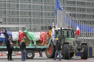 Manifestación del sector lácteo este sábado en SantaCombay el 7 de septiembre en Bruselas