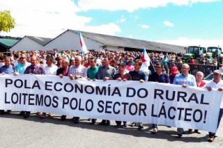 manifestación chantada pancarta