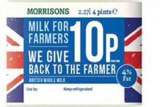 Nova marca de Morrisons, que lle pagará máis ó gandeiro.