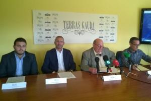José María Fonseca Moretón, presidente do Grupo Terras Gauda; Enrique Costas, director xeral; e Emilio Rodríguez Canas, director técnico de Adegas Terras Gauda