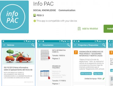 O Ministerio lanza InfoPAC, o primeiro servizo dixital informativo sobre a PAC
