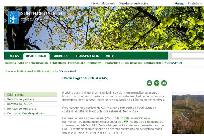 medio rural mejorar sus sistemas inform ticos para la ForOficina Virtual Medio Rural