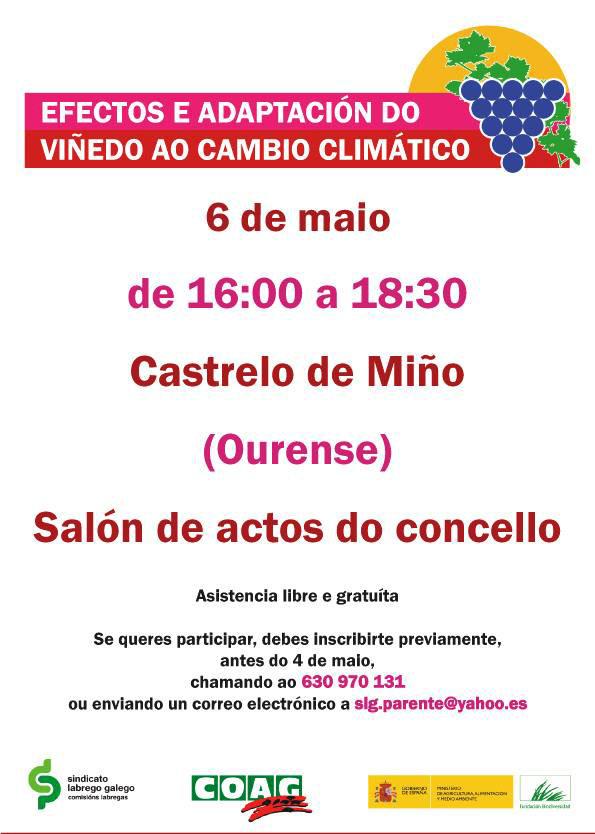 Xornada para analizar a incidencia do cambio climático no viñedo galego
