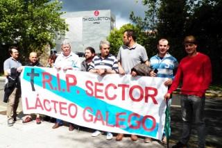 Protesta ganadera ante Rajoy en Santiago