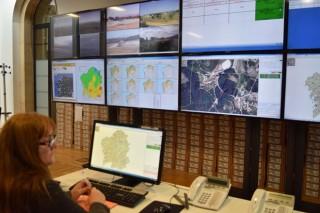 El centro de la lucha contra los fuegos forestales en Galicia