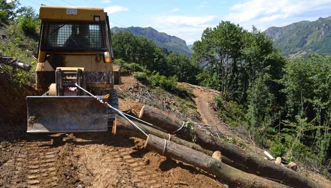 A introdución do cable sintético reduce a dureza dos traballos forestais