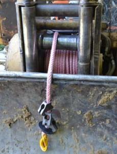 Tambor de cable sintético.