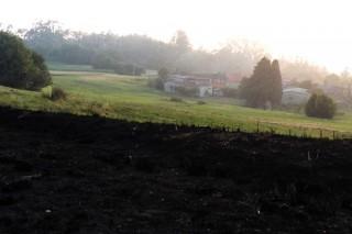 Os prados detiveron o avance das chamas en Diáns.