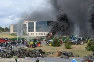 Protestas en Portugal e Francia pola crise de prezos do leite