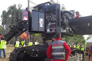 Xornada de portas abertas de maquinaria forestal en Barreiros