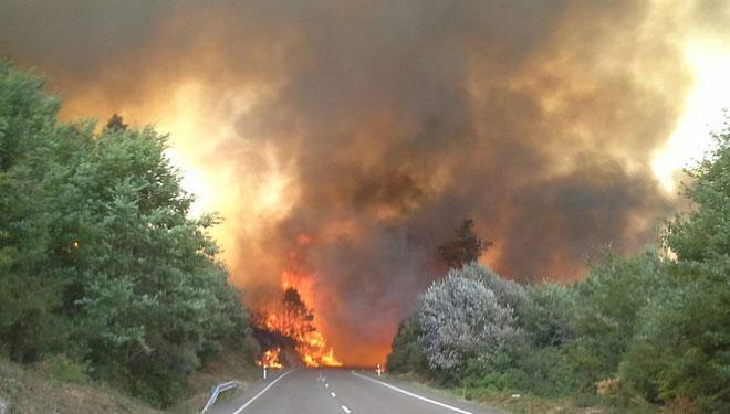 A segunda vaga de lumes do verán calcina máis de 4.000 hectáreas en Ourense