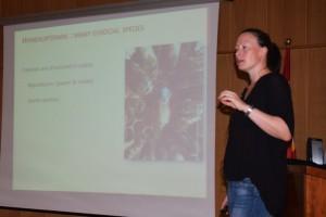 Karine Monceau durante unhas xornadas celebradas en Lugo