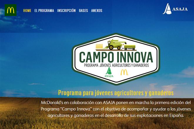 """Abierto el programa """"Campo Innova"""" de MacDonald´s y Asaja"""