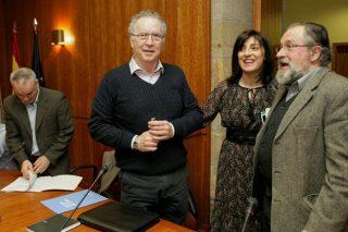 A conselleira, con representantes do sector, antes do Consello Forestal.