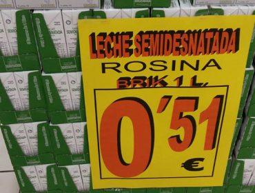 Gadis retira las ofertas de leche a 49 y a 51 céntimos