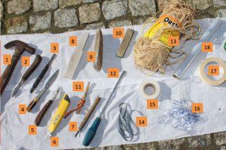 Material necesario para enxertar o viñedo