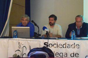 José Ángel Rivas, de Casa Codesal ; Guillermo Martínez, de Casa Grande Xanceda, e José González, de Leche Celta