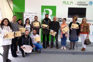 Ganadores de la cata popular de la 54 Feira do Viño do Ribeiro