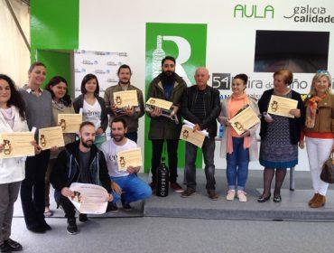 Gañadores da cata popular da 54 Feira do Viño do Ribeiro