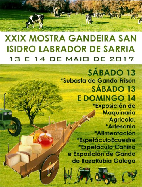 Sarria exalta esta fin de semana os produtos do agro na Mostra Gandeira de San Isidro Labrador