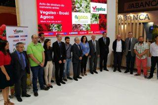 Vegalsa Eroski renova o convenio con Agaca e prevé facturar 1,5 millóns en produtos de horta das cooperativas galegas