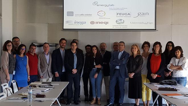 Representantes das institucións que participan no proxecto de investigación en biomasa.
