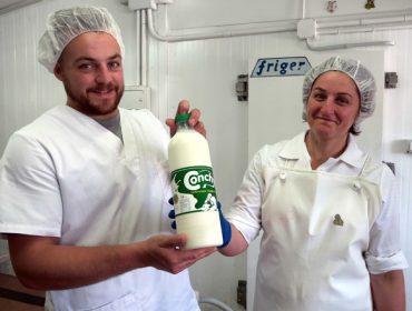 Lácteos Conchy, leite cru de Friol a Madrid