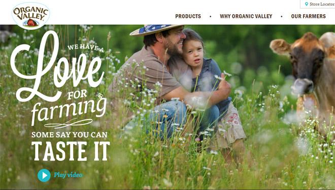 Organic Valley é unha empresa que elabora derivados lácteos de leite de pastoreo