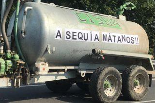 Vídeo da tractorada en Viana para reclamar axudas pola seca