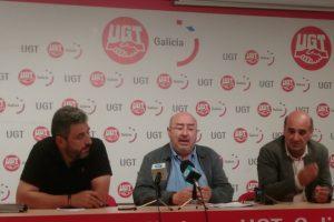 Rolda de prensa de Unións este mércores en Santiago