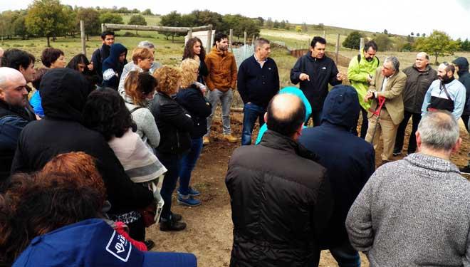Visitá da Sociedade Galega de Pastos ós montes de Penamá, en Allariz.