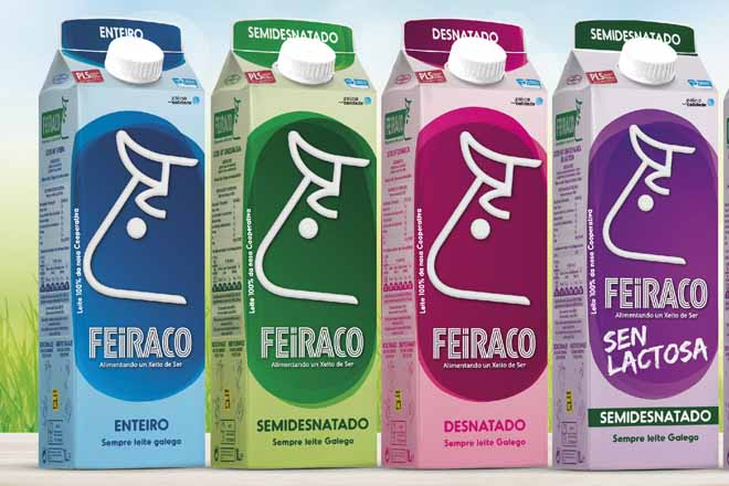 Clun lanza un novo envase para os leites Feiraco e Unicla