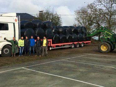 Ganaderos de Lugo envían 7 camiones de forraje a ganaderías de Cervantes