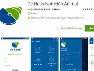 De Heus lanza a primeira app do sector para a xestión directa dos pedidos dos seus clientes