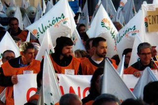 Gandeiros dos Ancares na mobilización.