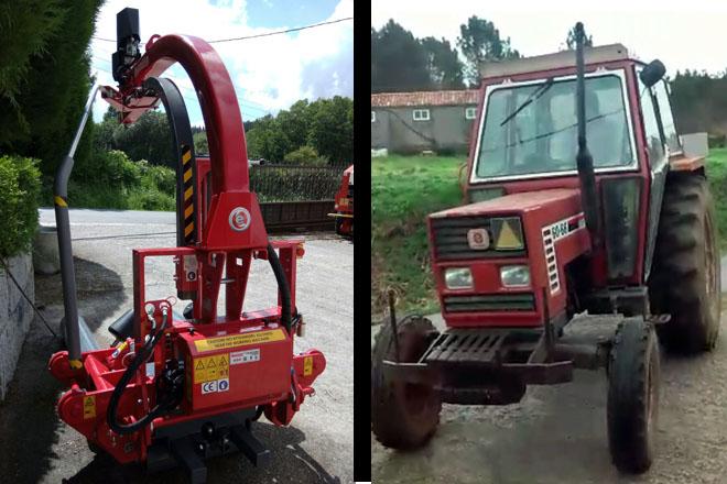 Roubo dun tractor e dunha plastificadora en Agolada