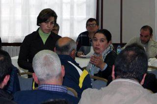 Lupe Prado, reelexida responsable do sector lácteo do Sindicato Labrego