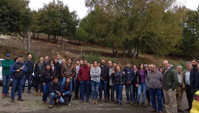 Visita á explotación dos participantes nunha xornada da Sociedade Galega de Pastos e Forraxes, o pasado outono.