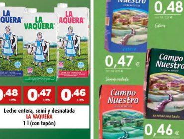 O leite vendido a menos de 60 céntimos aumentou un 50% desde o Acordo Lácteo
