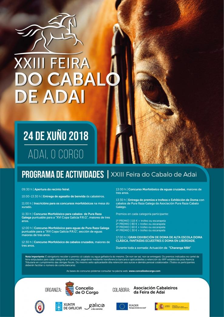 cartel Feira do Cabalo de Adai 2018