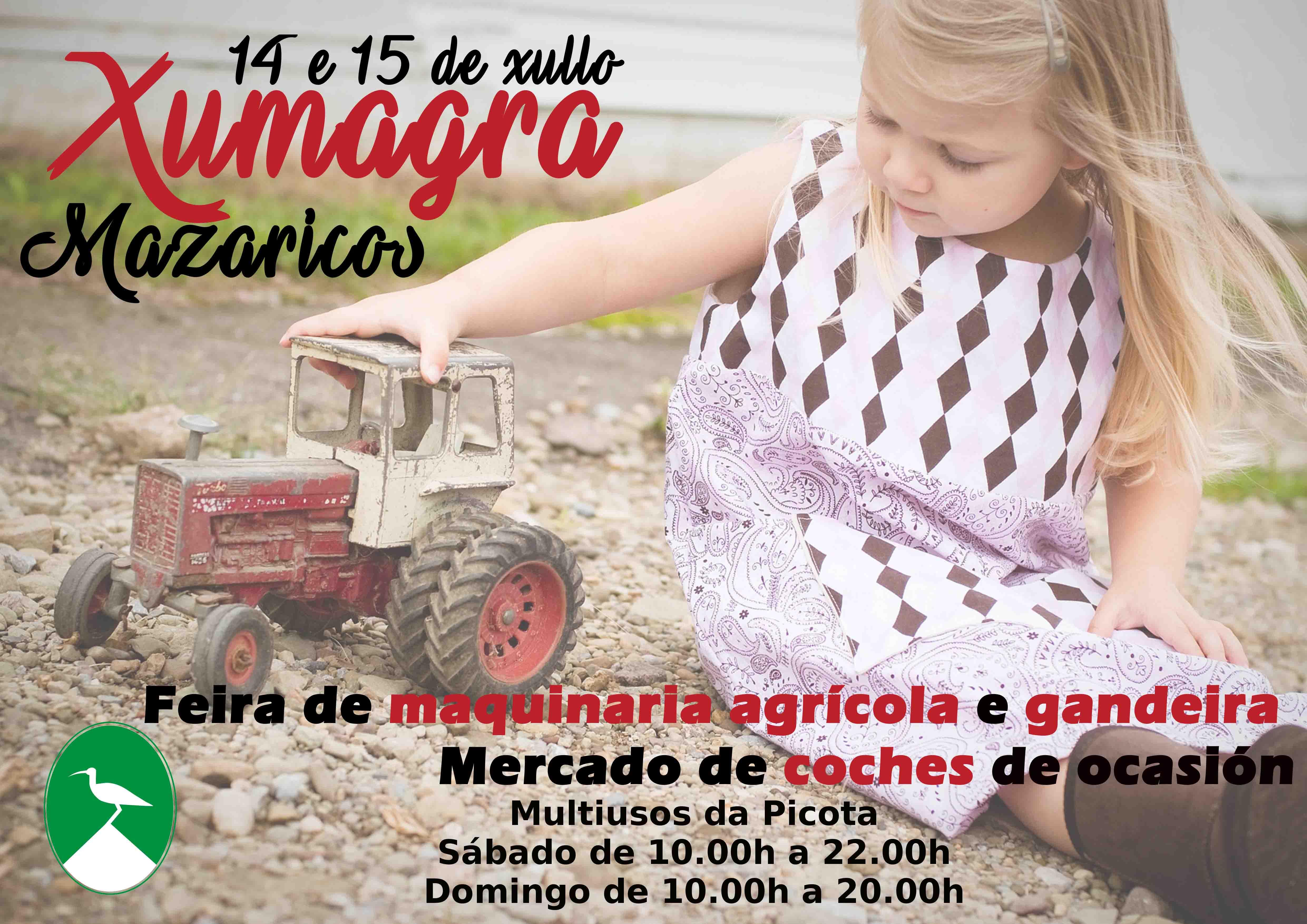 Mazaricos acolle o 14 e 15 de xullo a feira de maquinaria agrícola XUMAGRA