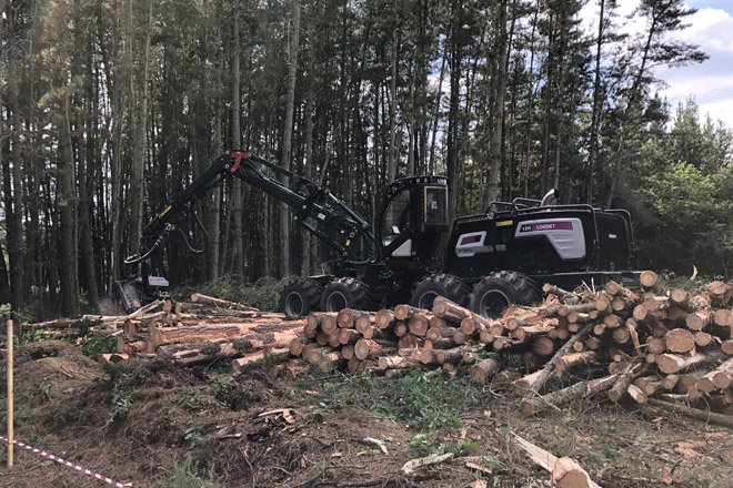 Curso sobre manejo y mantenimiento de procesadoras forestales