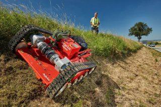 Llega a España el robot desbrozador Agria 9600 especial para pendientes