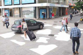 Primeiro paso de vaca na Coruña